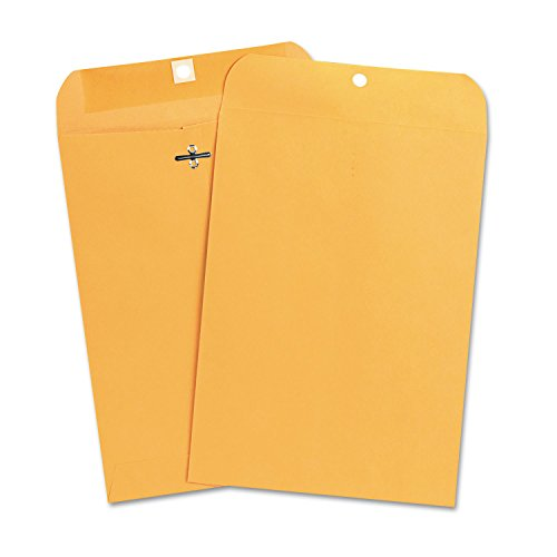 Universal 35262 Kraft Clasp Envelope, Center Seam, 28lb, 7 1/2 x 10 1/2, Brown Kraft, 100/Box