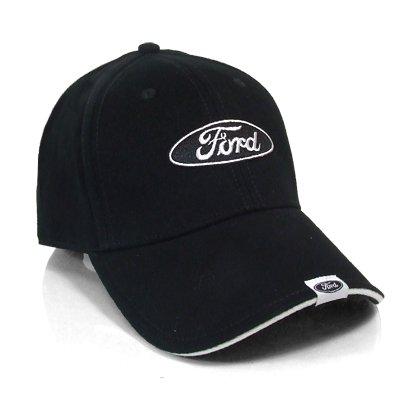 Bill Logo Cap - Ford Logo Tag on Bill Black Baseball Cap