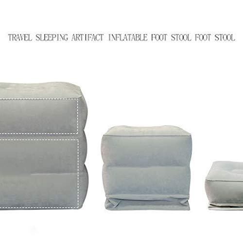 Les Avions gonflables de Repose-Pieds de Voyage portatif reposent Le Tapis de Pied sassemblant de Sommeil pour des Enfants Pad Adulte Gris fonc/é