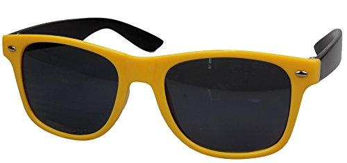 style Lunettes differentes Wayfarer soleil Noir couleurs neu 80's retro de jaune monture wZqCZEAc