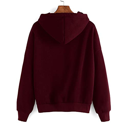 Outwear Shirt 36 Vin Sweat Pull Femme 42 À Gongzhumm Tops Poche Hoodie Sports Eu Pullover Avec Jaune Automne Hiver Rouge 38 Capuche 40 wFZXq5XBA