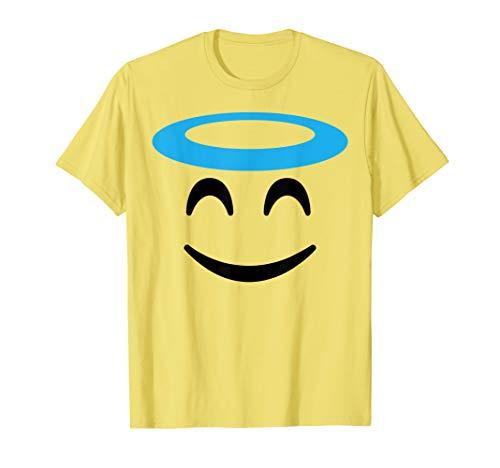Angel Halloween Costumes 2019 (Halloween Emoji Costume Shirt Smiling Face With Halo Angel)