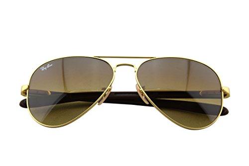 Amazon.com: Ray-Ban Men\u0026#39;s RB8307-029/71 Aviator Carbon Fibre Oval Sunglasses,Matte Gold,58 mm: Clothing