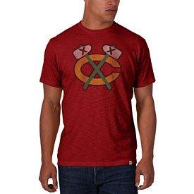 T Blackhawks Red Tomahawk Scrum
