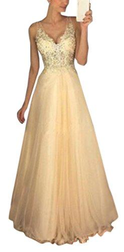 Sommer Lang Kleid Damen Elegant Hochzeit Kleid Sexy V Schnitt Ärmellos  Kleider Maxikleid Tunikakleid Schlank Mode 4ee5f232a5