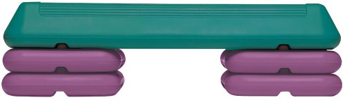 The Step Circuit Step with Platform and 4 Risers, Teal/Purple by The Step