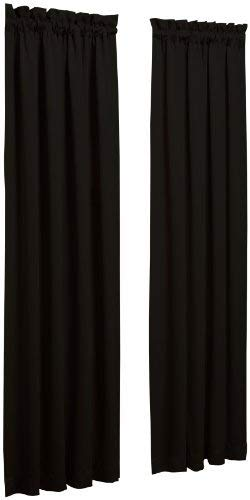 Sun Zero Efficient Pocket Curtain Panel, Black