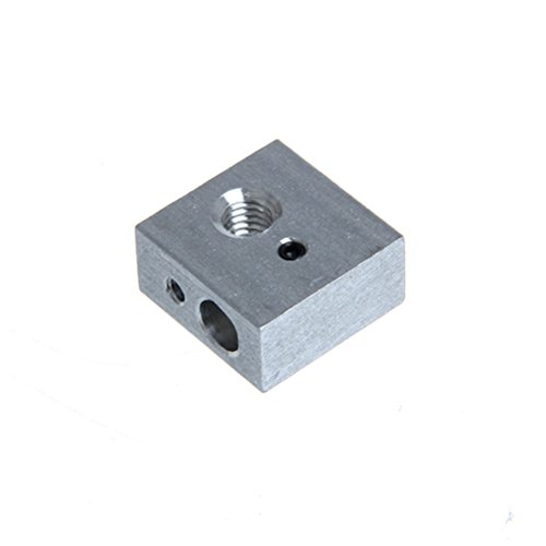 UEETEK 5pcs 3D impresora de aluminio bloque de calentador especializado para Makerbot MK7 MK8 3D impresora extrusora