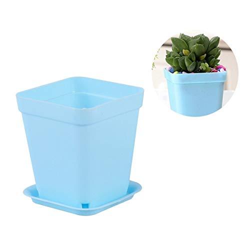 [해외]NATFUR 6PCS Plastic Portable Durable Flower Pots for Living Room Office Kitchen Bedroom | Color - Sky-Blue / NATFUR 6PCS Plastic Portable Durable Flower Pots for Living Room Office Kitchen Bedroom | Color - Sky-Blue