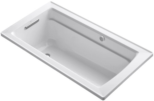 Bubblemassage Bathtub - KOHLER K-1122-G-0 Archer BubbleMassage 5-Foot Bath, White