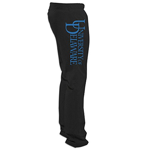 Texhood MEN'S University Of Delaware Logo Black Sweatpants Size L