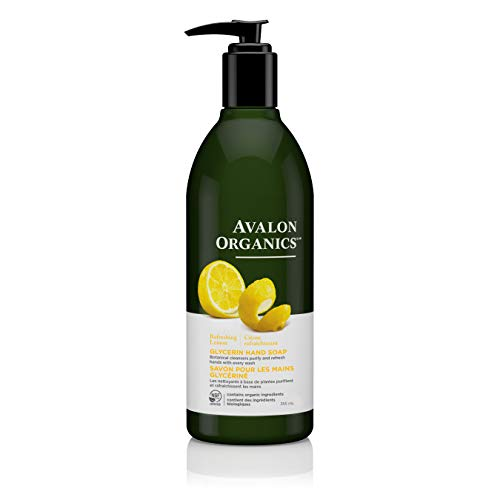 Avalon Organics Glycerin Hand Soap, Lemon, 12 Ounce (Pack of 3)