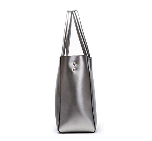 Uniti Grande Moda Di Bag Pelle In La Europa Colore Nero Shopping Stati colore Spalla Giallo Capacità E Gkkxue Diagonale qwCEB6P