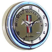 Mustang, Neon Clock, Bright Double 18 inch Neon, Nothing Moves Like a Mustang