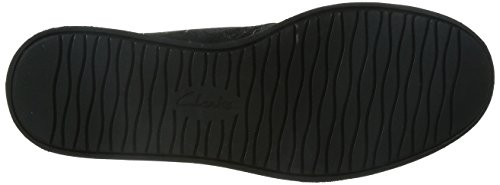 Clarks Glick Willa - botas desert de cuero mujer Negro (Black Nubuck)