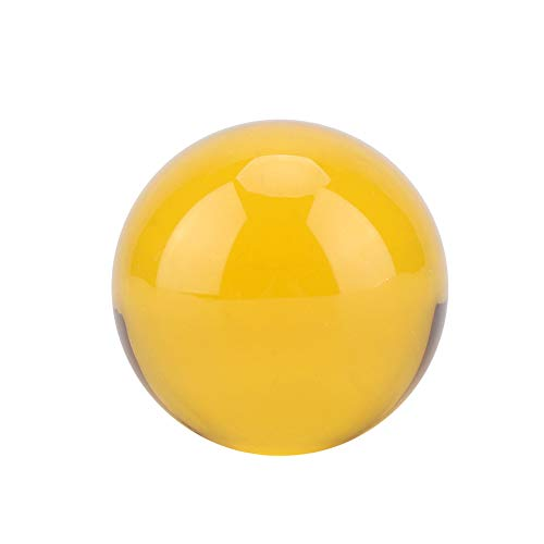 - Zerodis 40mm Crystal Ball Amber Crystal Glass Ball Sphere K9 Photography Props Feng Shui Meditation Home Office Decor Gift
