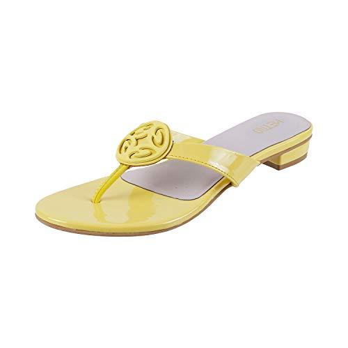 Metro Women's Yellow Fashion Slippers-4 UK (37 EU) (32-558) (B083NT3NLT) Amazon Price History, Amazon Price Tracker