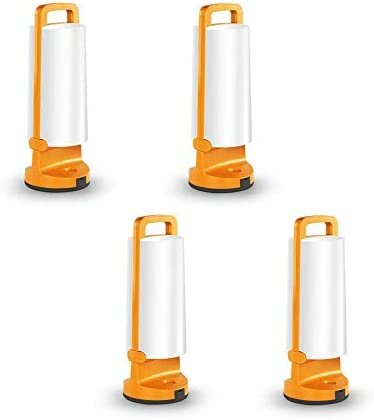 4 Packs LUTEC P9041OR 120 Lumen 20.8 Watt Simple Touch-Button Operation 3 Step Dimmer Portable Moveable LED Tent Lights Outdoor, IP54 Waterproof USB Rechargeable Solar Powered Folding Lantern-Orange