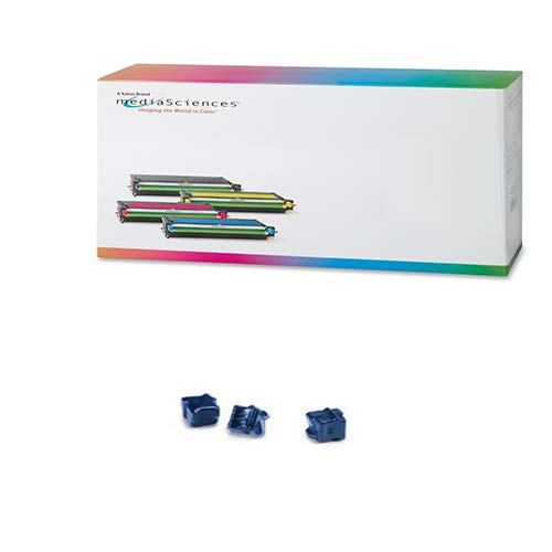 108r00660 Cyan Ink - Media Sciences MSW2000C3 Cyan Solid Ink Sticks (3/PK -3400 Page Yield) - Compatible for Xerox 108R00660