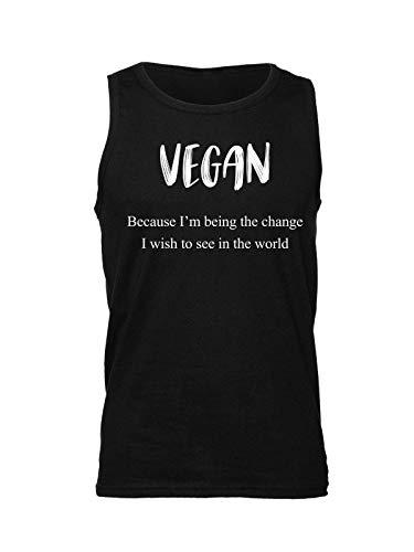 Dans Mangas Negro Je Hombre Sin Monde Para Que Suis Changement Veux Vegan Parce Le Camiseta Voir 87xCwC