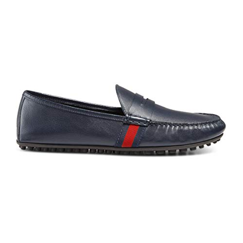 - Gucci Men's Signature Web Leather Drivers, Blue (12 US / 11.5 UK)