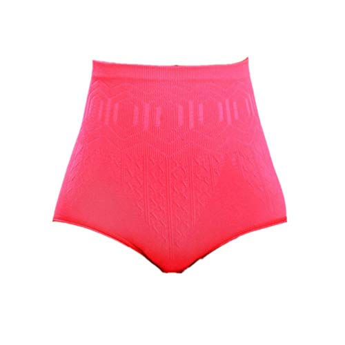 POQOQ Briefs Pants Womens Sexy High Waist Tummy Control Body Shaper Slimming Free Size Hot Pink