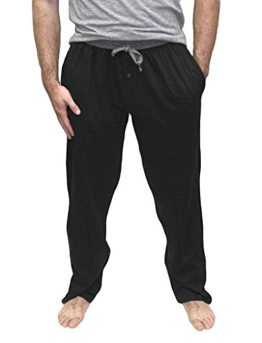 - Hanes X-Temp Men`s Jersey Pant with ComfortSoft Waistband (Grey/Black, 2X-Large)