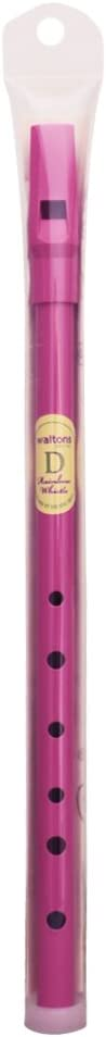 Waltons Pink Whistle Tube - Fun & Colorful Tin Whistle - Key of D - Irish & International Instrument - Perfect for Beginners