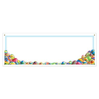 - Beistle 40552 1-Pack Easter Egg Hunt Sign Banner for Parties, 5-Feet by 21-Inch
