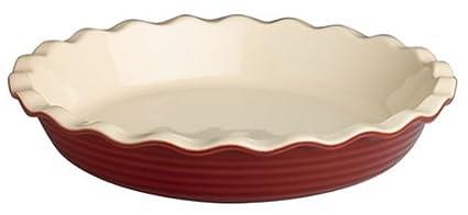 Amazon.com: Emile Henry Le Potier 12-Inch Le Grand Pie Dish ...