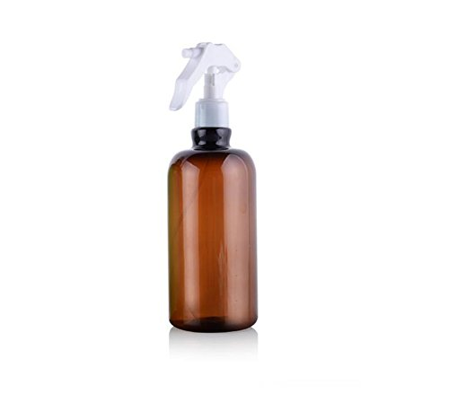 1PCS 500ml Refillable Hairdressing Spray Bottles -Portable PET Plastic Cosmetic Makeup Bottles Gardening Plants Sprayer Spary Holder Tools Window Watering Pot Can Sprinklers (Brown)