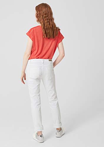 S Denim Donna 01z8 Slim Jeans Stretch white Bianco oliver TqFrYT