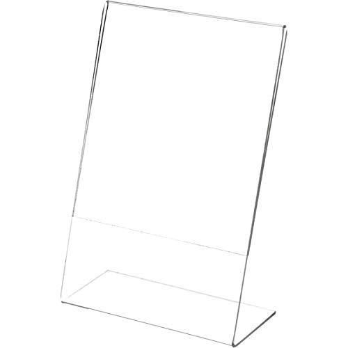Plymor Brand Clear Acrylic Sign Display/Literature Holder (Angled), 6