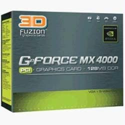 3D Fuzion GeForce MX4000 PCI Graphic Card 128MB - 128 Mb Video Graphics