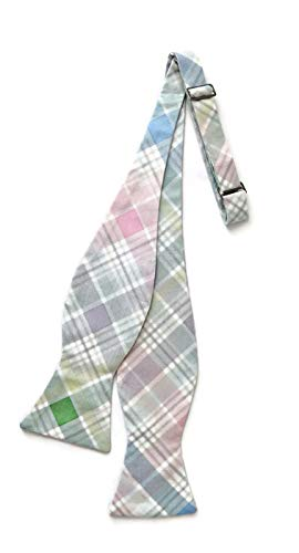 Men's Spring Self-tie Bow Tie in Pastel Plaid Easter Design (Mens)