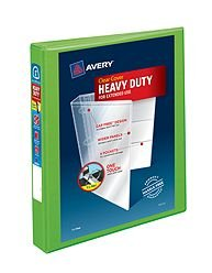 Avery 79770 Heavy-Duty View Binder w/Locking EZD Rings 1'' Cap Chartreuse