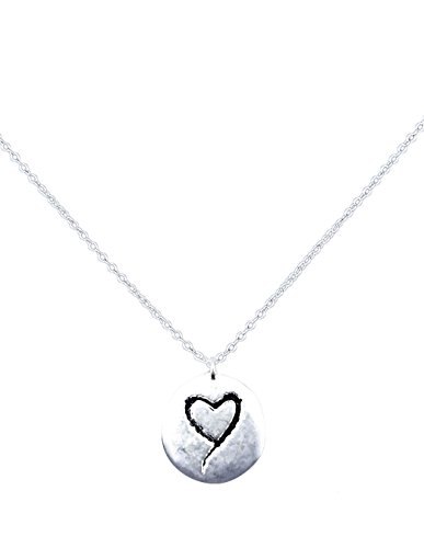 Have a Heart Necklace With Silver Tone; Double/Two Sided With Hearth and Flower