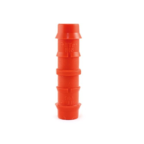 - Piltar Drip Irrigation Universal Barbed Coupling, Fits All Sizes of 5/8, 1/2 Drip Tubing (16mm x 16mm) (Pack of 10 pcs)