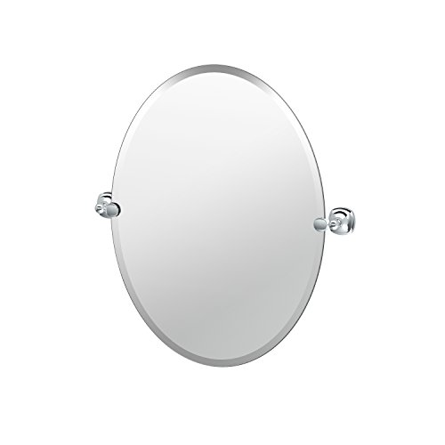 Gatco 4619 Lucerne Bathroom Oval Mirror, 26.5'', Chrome by Gatco