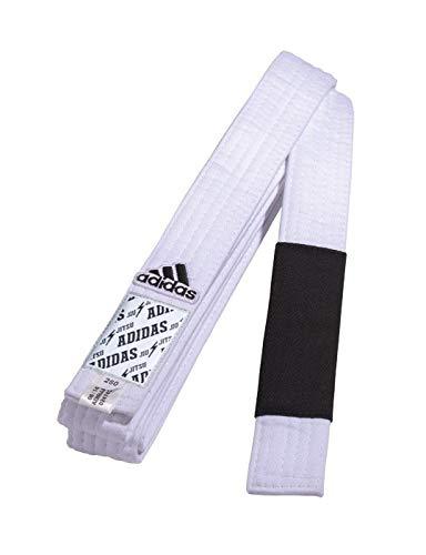 (adidas Brazilian Jiu Jitsu/BJJ Rank Belts (White,)