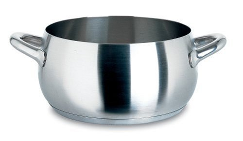 Alessi,SG101/24 S  inchMAMI inch, Casserole with two handles in 18/10 stainless steel mat,5 qt 16  oz