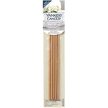 Yankee Candle Pre-Fragranced Reed Diffuser Refills, Fluffy Towels, 5 Count