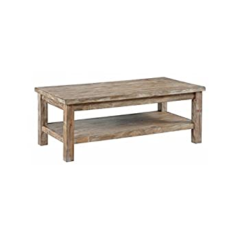 Ashley Furniture Signature Design - Vennilux Coffee Table - Cocktail Height - Rectangular - Bisque