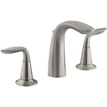 Kohler K 45102 4 Bn Alteo Widespread Lavatory Faucet Vibrant Brushed Nickel Touch On Bathroom