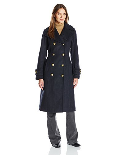 Anne Klein Wool Coat - Anne Klein Women's Db Military Coat, Navy, 4