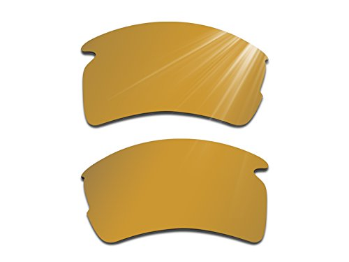 Glintbay Harden Coated Replacement Lenses for Oakley Flak 2.0 XL Sunglasses - Polarized Bronze Gold - Coated Mirror Sunglasses