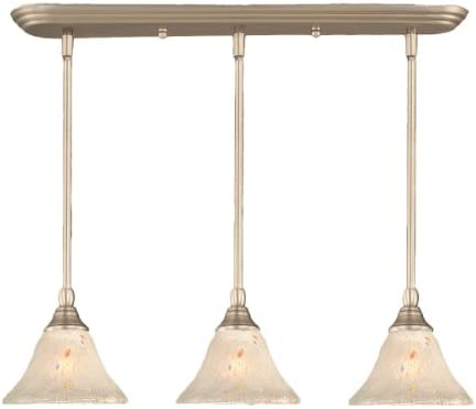 Toltec Lighting 25-BN-751 Multi Light Mini-Pendant Brushed Nickel Finish with Frosted Crystal Glass, 7-Inch