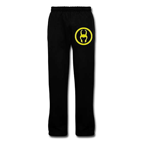 YellowNN Men's Loki Helmet Sweatpants Black (Loki Helmet For Sale)
