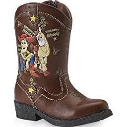 Disney Toy Story Light Up Woody Cowboy Boots for Toddler Boys (Brown/Size 7-12) (7)