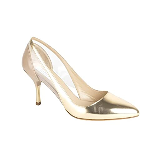 31bb0892a6c durable modeling Max Mara Women s Marzo Metallic-Leather Pumps US 9.5   IT  39.5 Rose